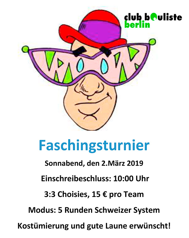 faschingsturnier 2019